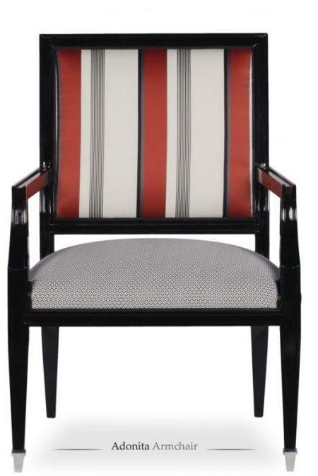 Adonita armchair front view
