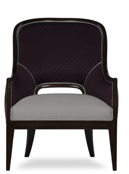 Aura armchair front view