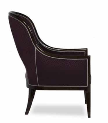 Aura armchair side view