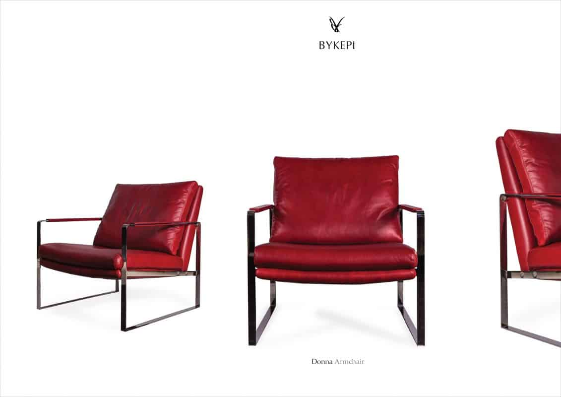 donna armchair red