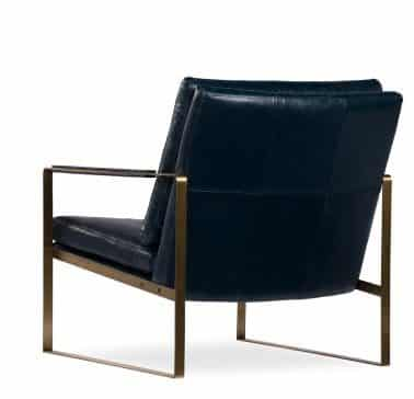 donna armchair black leather