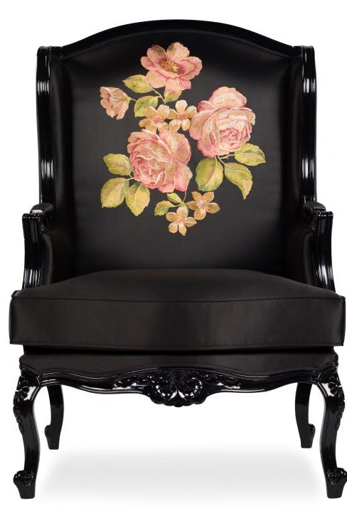 enna armchair with black wooden legs