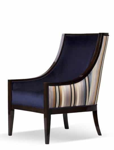 Freda armchair side view