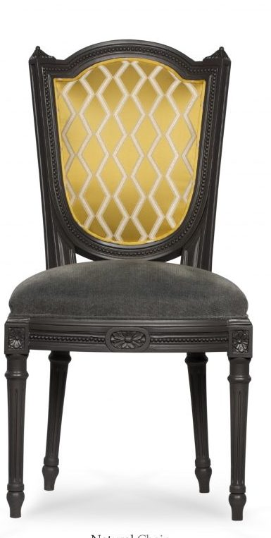 Chair with black wooden legs