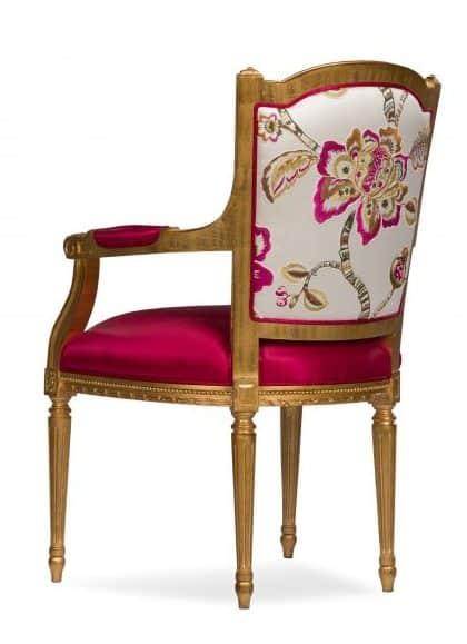 Luxury armchair with golden