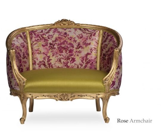 Rose armchair front view