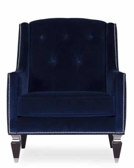 vegas armchair2- royal blue velvet