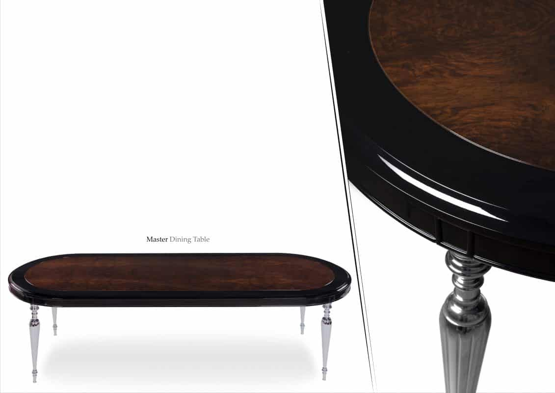 Designer oval dining table