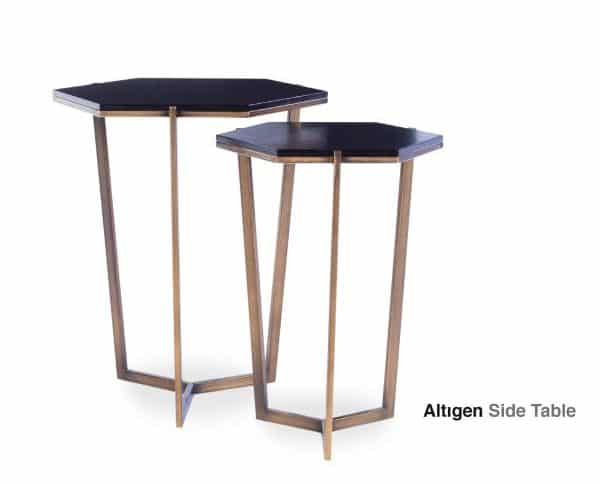 altıgen side table