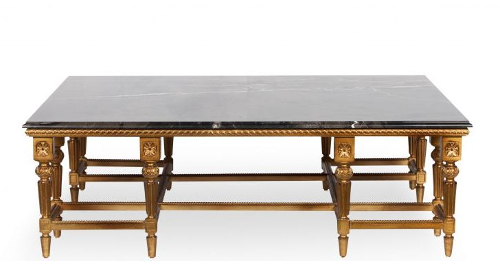 Elizabeth Coffee table with marble top front view