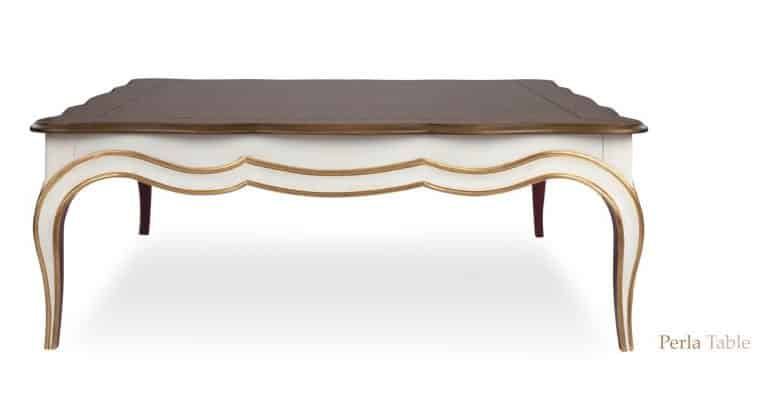 perla coffee table front view