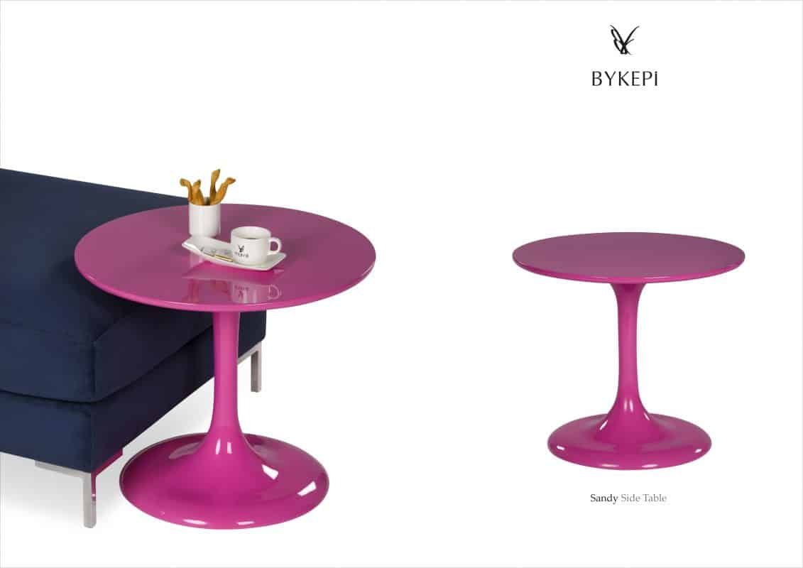 sandy side table pink