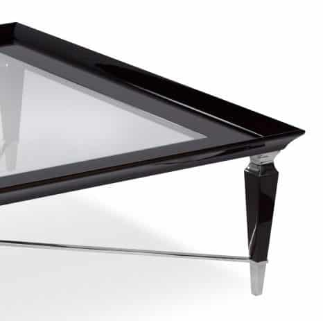 team coffee table with glass top corner
