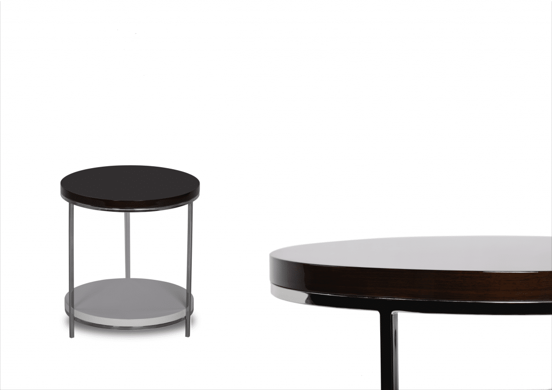 chrome side table round group