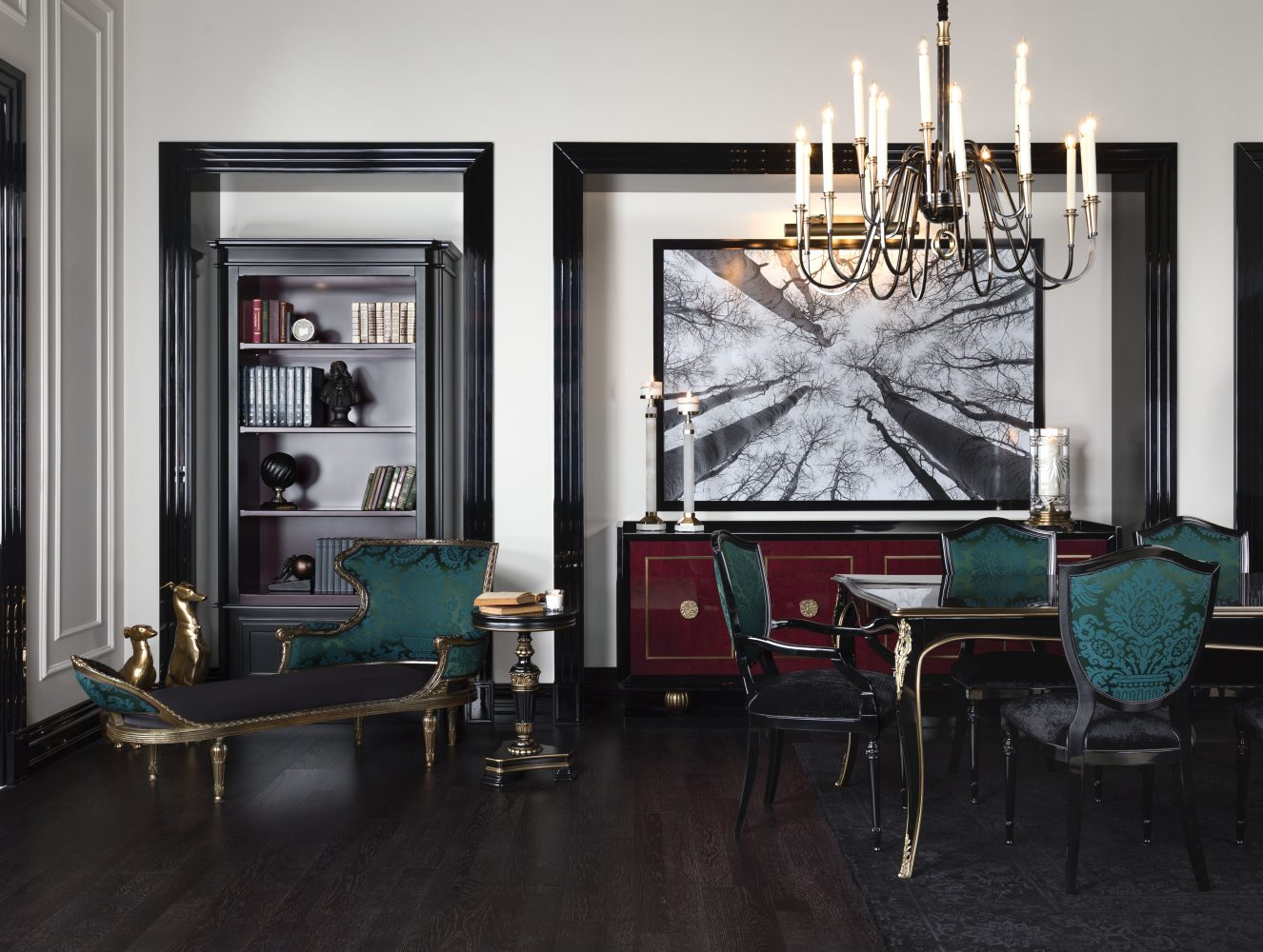 especial dining table with cadillac bench
