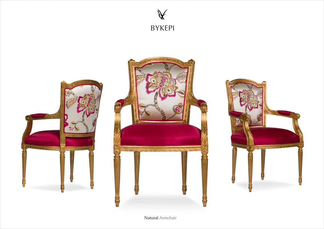 Luxury dining chairs with golden