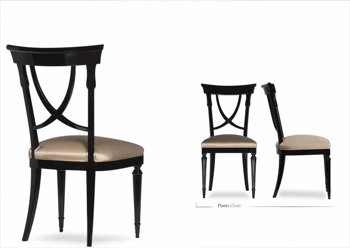 Dining chairs with wooden back